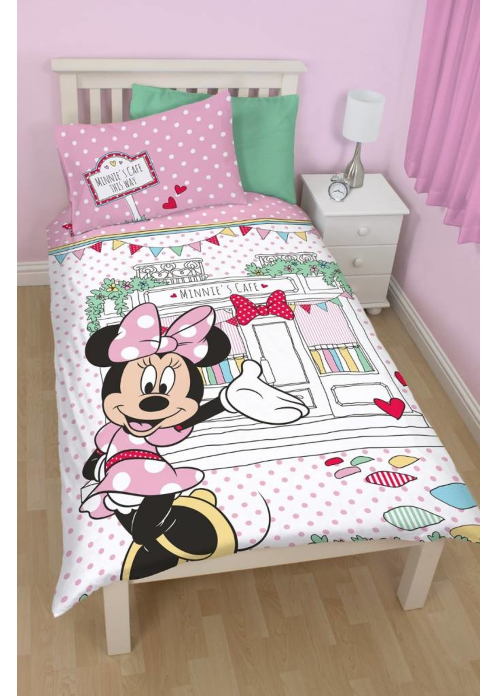 Disney Minnie Mouse Dekbedovertrek Cafe