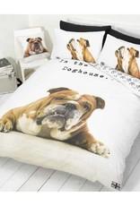 Hond Dekbedovertrek Bulldog 135x200