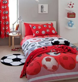 Catharine Lansfield Footbal Duvet Cover Red