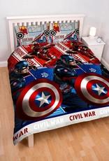 Marvel  Captain America Tweepersoons Dekbedovertrek Civil War