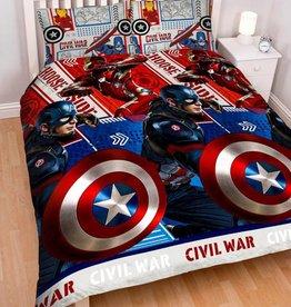 Captain America Tweepersoons Dekbedovertrek Civil War