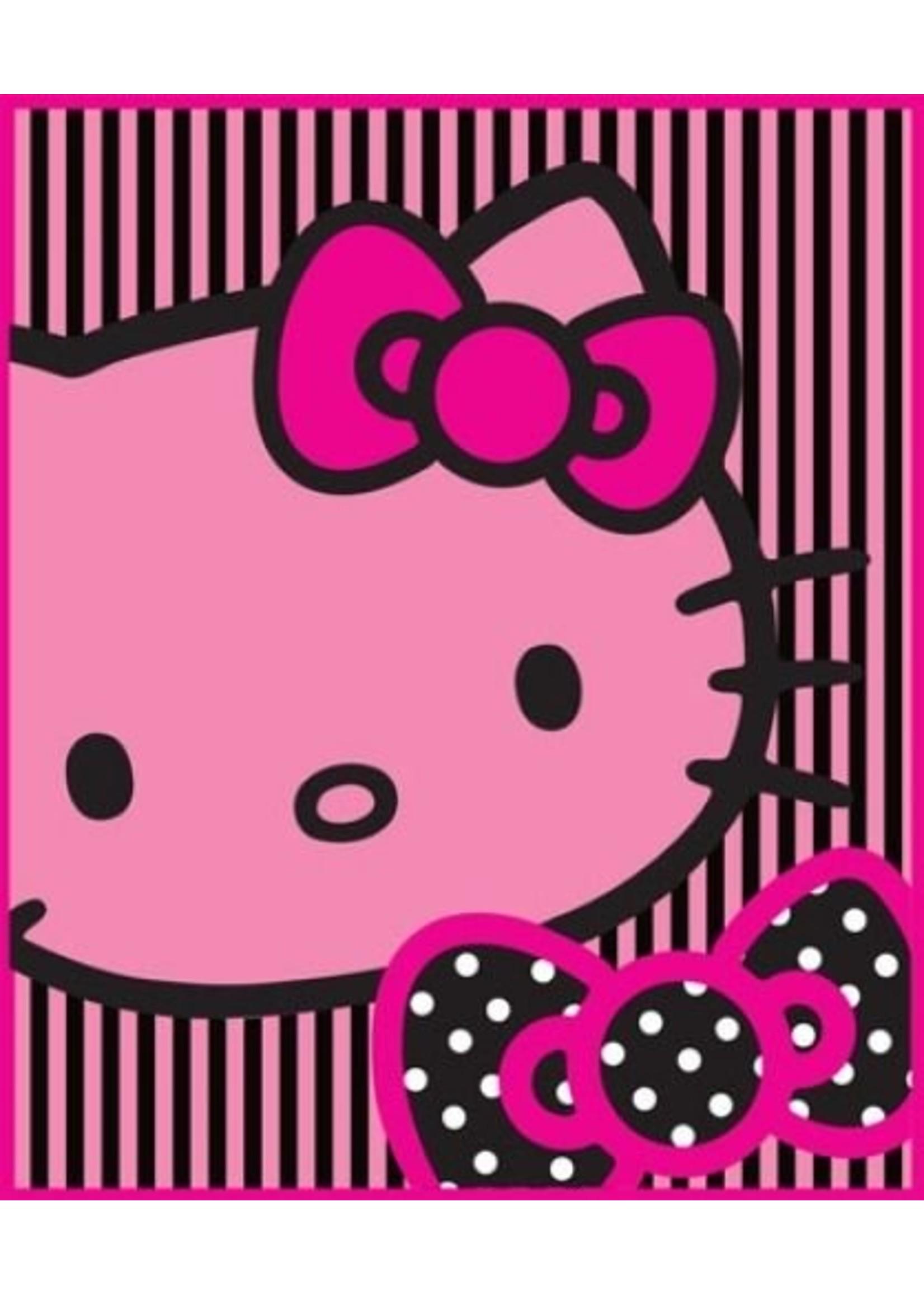 Sanrio  Hello Kitty Fleece Deken Outline Roze