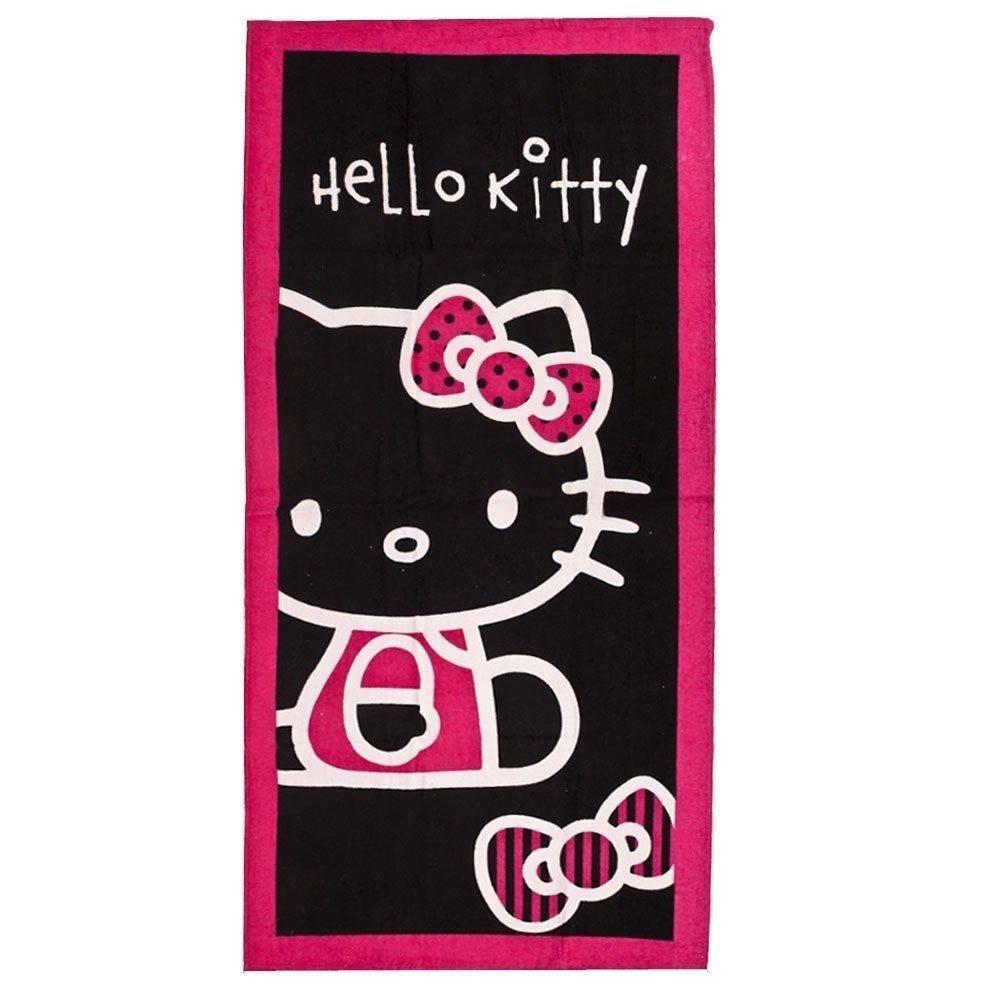 Sanrio  Hello Kitty Strandlaken Strik Zwart