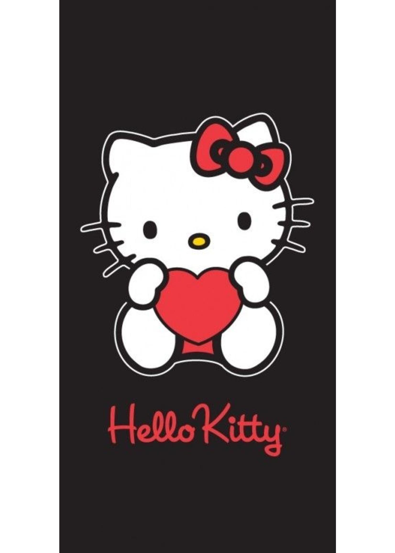 Sanrio  Hello Kitty Strandlaken Heart Black