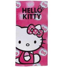 Sanrio  Hello Kitty Handdoek Roze Strikje