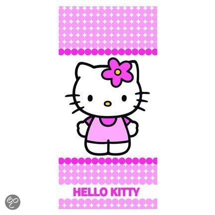 Handdoek Hello Kitty.Sanrio Hello Kitty Handdoek Stipje
