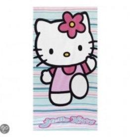 Hello Kitty Handdoek Strepen