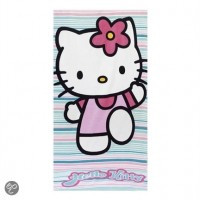 Handdoek Hello Kitty.Sanrio Hello Kitty Handdoek Strepen