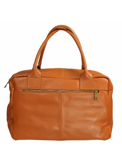 Carelli Italia Leren laptoptas Turin Oranje