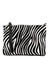 Carelli Italia Hippe Clutch Sassari Zebra print