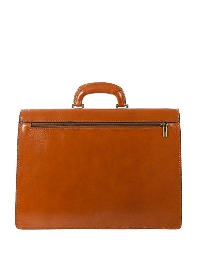 Carelli Italia Leren Laptoptas Firenze Oranje