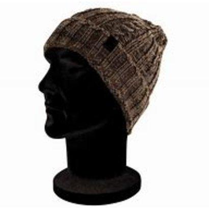 Fox camo/black knit beanie
