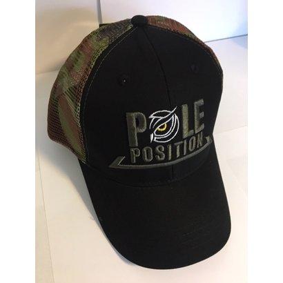Strategy trucker cap black camo