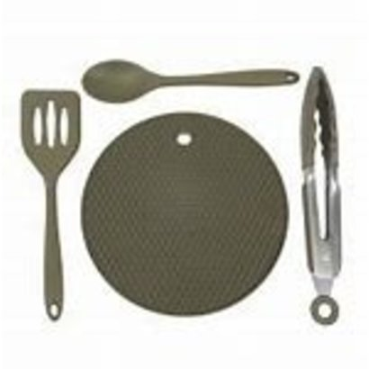 Trakker armolife 4 piece silicone utensil set