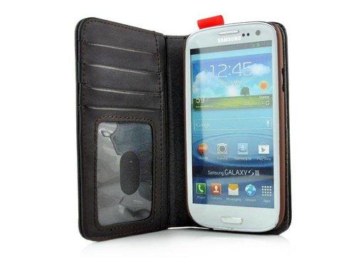 Чехол кошелек BookBook из натуральной кожи для Galaxy S3 i9300