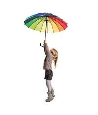 Радужный зонт трость
