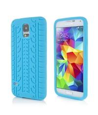 Чехол шина силиконовый Galaxy S5 G900 Голубой