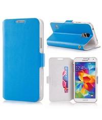 Флип чехол для Galaxy S5 G900 Голубой