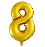 Надувные цифры золотые 41 см