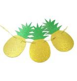 Гирлянда золотые ананасы