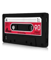 Чехол кассета 90-х для iPhone 4/4S Черный