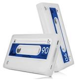 Силиконовый Чехол Кассета 90-х для iPhone 4/4S Белый