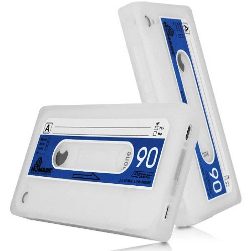 Чехол кассета 90-е для iPhone 4/4S Белый