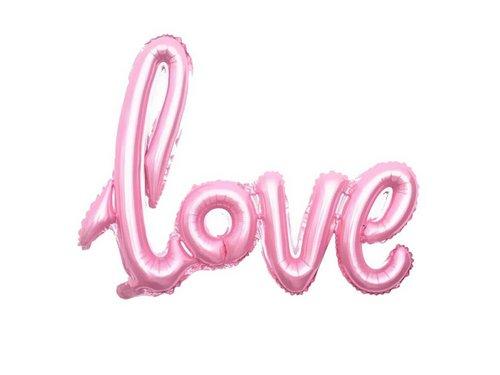 Шар надувной Love 41*104 см Розовый