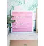 Декоративная доска для букв розовая