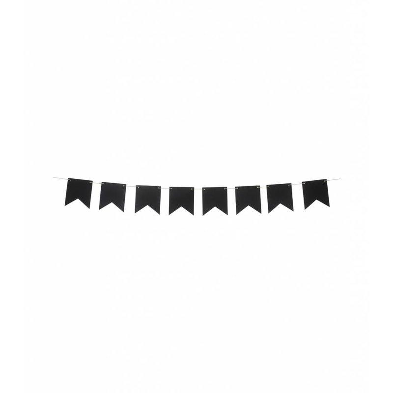 Гирлянда черная с мелками 5 метров
