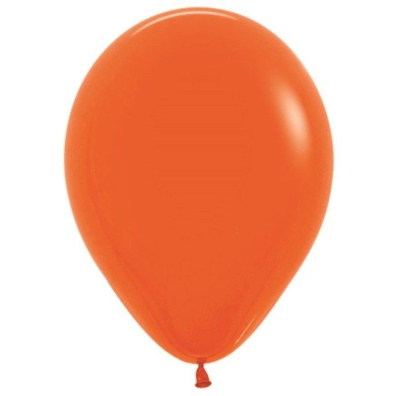 Оранжевые надувные шарики 10 шт 25 см