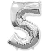 Воздушный шар фольгированный 102 см Серебряный