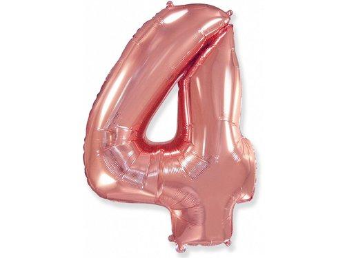 Воздушный шар фольгированный 102 см Розовое золото