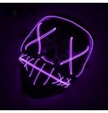 Светящаяся маска Судная ночь неоновая