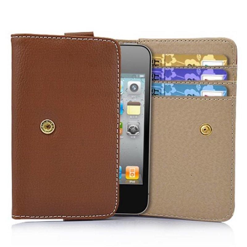 Кожаный кошелек для iPhone 4, 4s Песочный