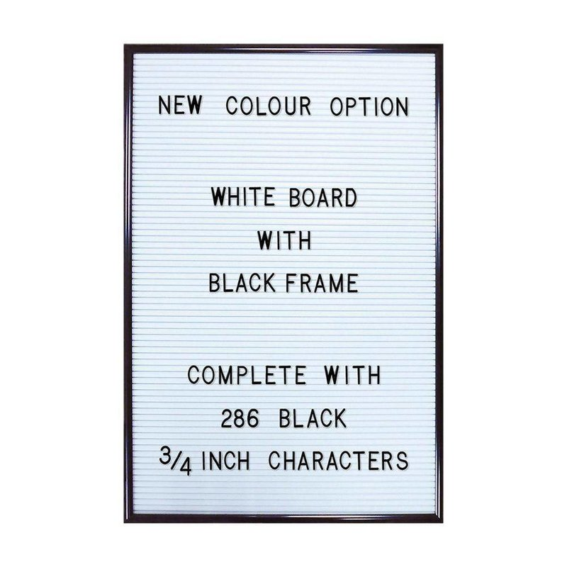 Ретро доска с буквами черно-белая