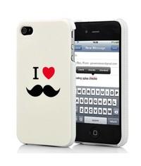 Накладка I Love усы для iPhone 4/4s