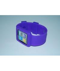 Сиреневый чехол часы для iPod Nano 6G