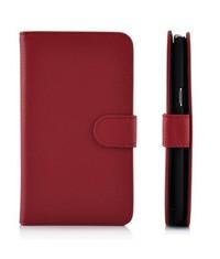 Кожаный чехол книжка для Galaxy Note 2 Красный
