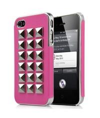 Крышка Заклепки для iPhone 4, 4s Розовая