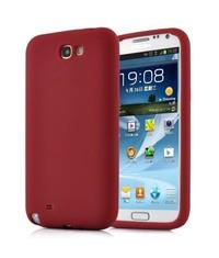 Силиконовый чехол для Galaxy Note 2 Красный