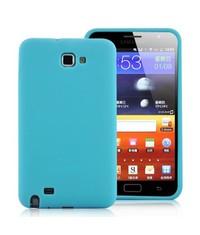 Силиконовый чехол Samsung Galaxy Note Голубой