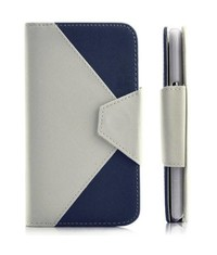 Ретро кошелек для Galaxy Note 2 Сине-белый
