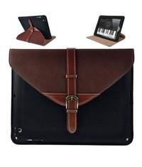 Кожаный чехол портфель iPad 2, 3, 4 Черный