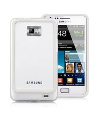 Бампер чехол для Samsung Galaxy S2 Белый