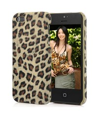 Крышка леопард для iPhone 5/5s Коричневая