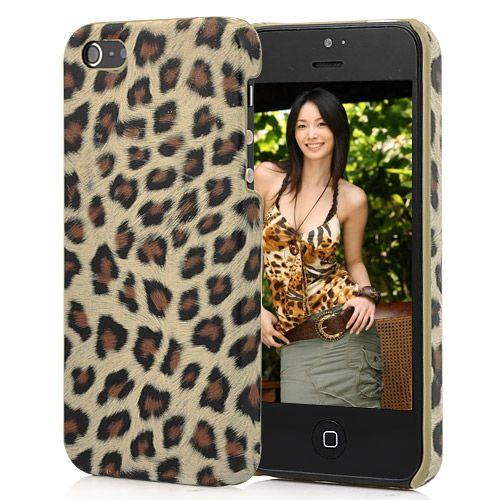 Чехол накладка для iPhone 5/5s Леопард коричневый ...