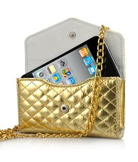 Сумочка на цепочке для iPhone 4/4s Золотая