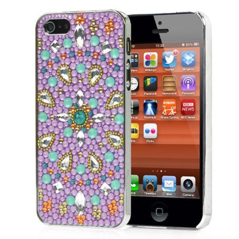 Задняя крышка iPhone 5/5s со стразами и камешками ...