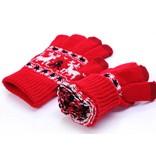 Перчатки с оленями сенсорные